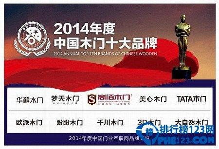 2014中国木门十大品牌排名