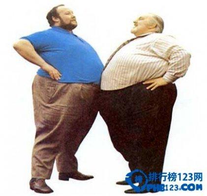 胖子最多的国家排行榜
