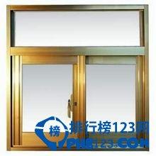 铝合金门窗品牌排行