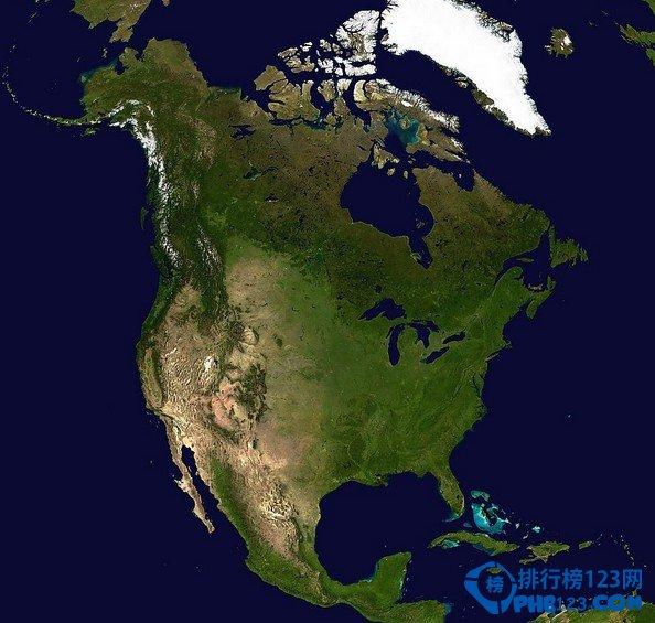 北美洲国土面积排行榜