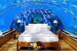 迪拜水下酒店,与鱼共眠一晚3.6万(世界唯一十星级酒店)