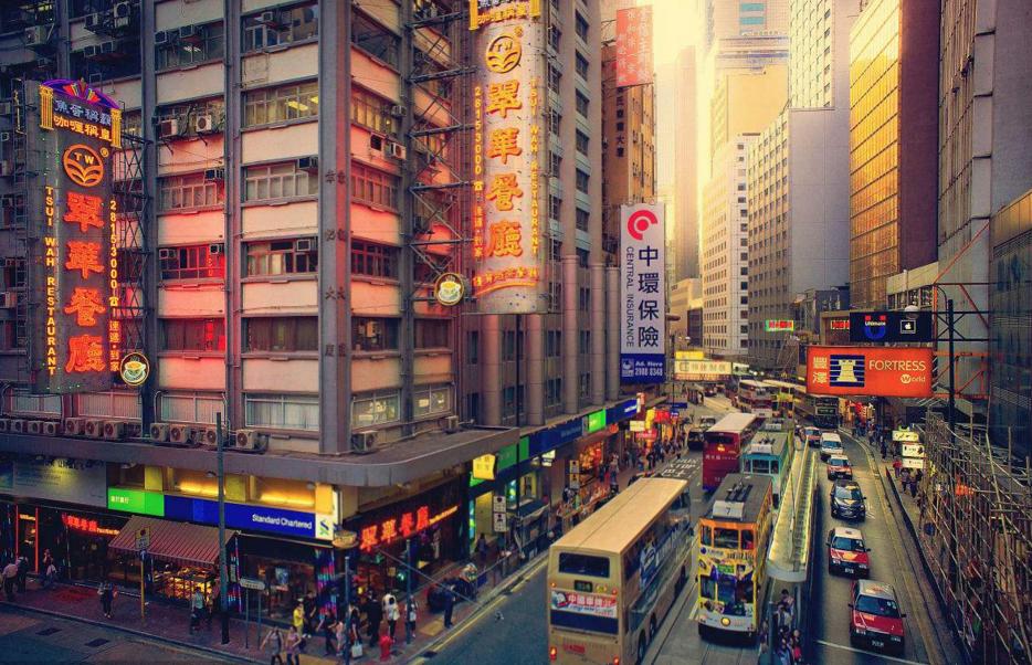 世界最繁华的十大城市:中国上榜两个城市(香港和上海)
