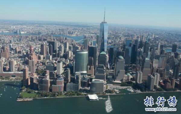 美国城市面积排行榜:纽约8683km²居首,42城面超1000km²
