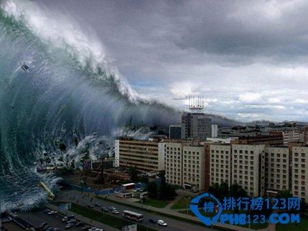 世界上最高的海啸